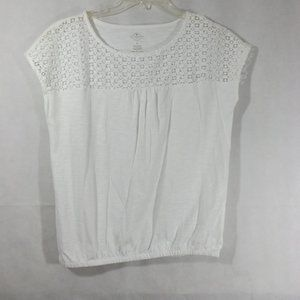 Womens ST JOHN'S BAY Blouse - White - Sz M